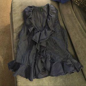 Ralph Lauren Classic Striped Sleeveless Top - Sz S