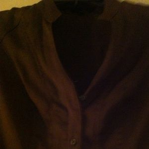 REDUCED!  EXPRESS. Brown/taupe Satiny feel Top.