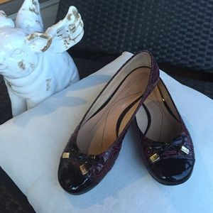 Kate Spade plum patent leather flats 6.5 