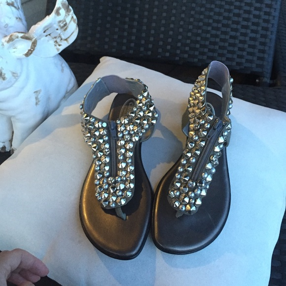 217f1f87c Callisto of California Shoes - Callisto of California studded thong sandal  Size 9