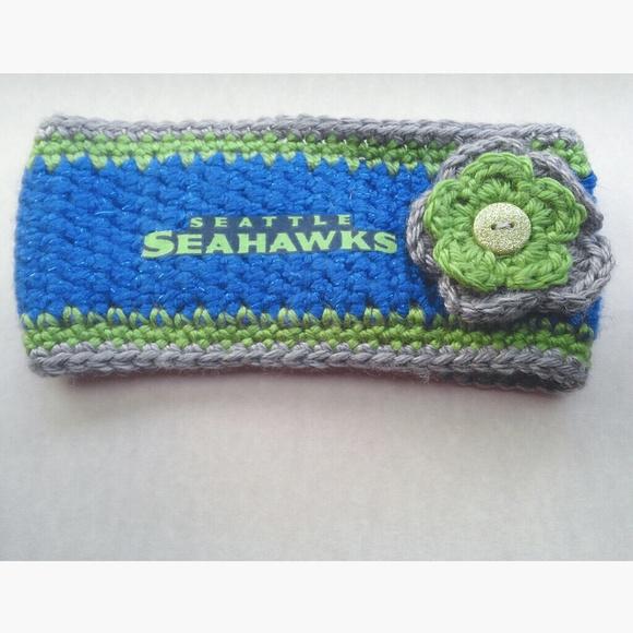 Custom Accessories Rare Nfl Seattle Seahawks Sparkle Knit Headband