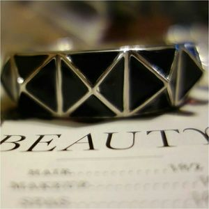 Jewelry - Black pyramid cuff