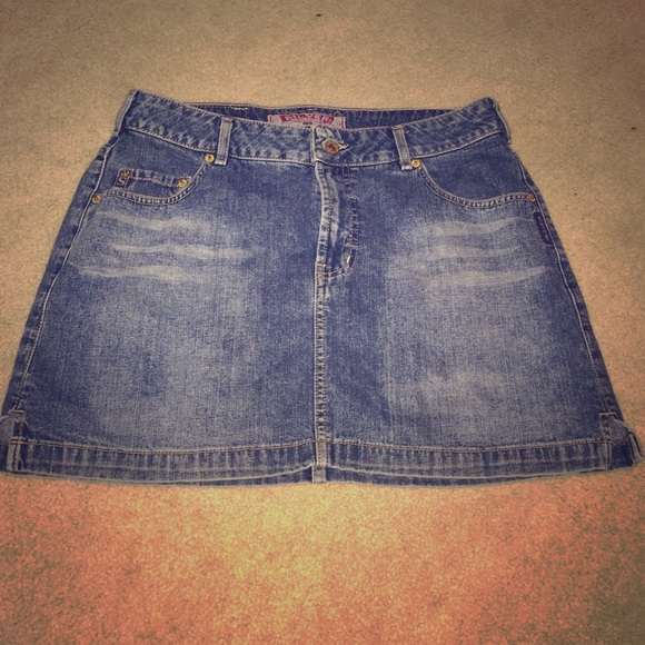 silver silver jean skirt from s closet on