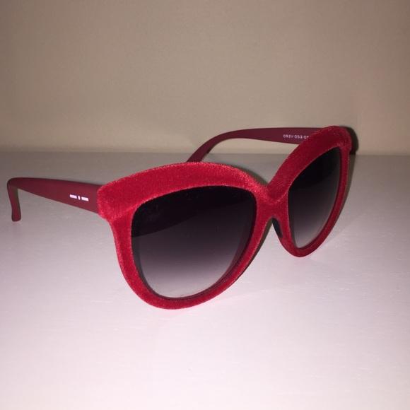 82974144d7dd Italia Independent Accessories - Italia Independent red velvet sunglasses