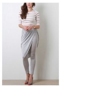 Grey Wrap Layer Leggings