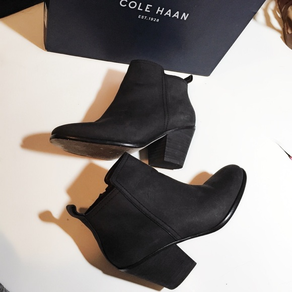 cole haan black ankle boots