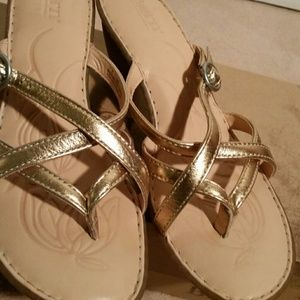 03be44f61692 Born Shoes - Born Gold Metallic Sandals