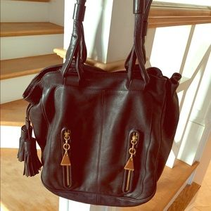 See By Chloe Cherry Black Leather Hobo Bag