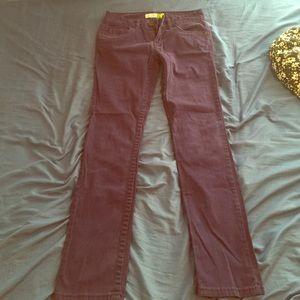 Purplish/Blue straight leg pants