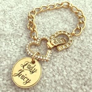 Juicy Couture gold bracelet with extra charm!