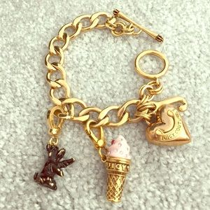 Juicy Couture gold bracelet with two charms!!!