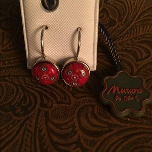Alan K Jewelry - Murano Glass silver 925 Earrings pair by Alan