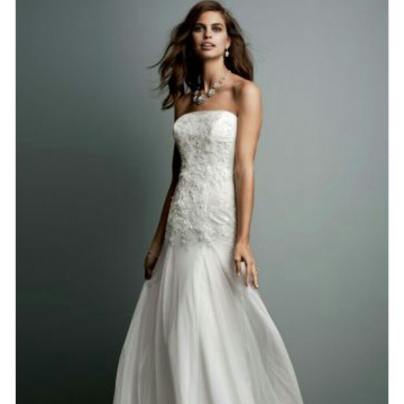 David\'s Bridal Dresses | Galina Bridal Gown Chantilly Lace | Poshmark