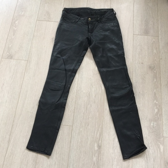 9b0aa4b1d2a All Saints Pants - All Saints Leather Pants