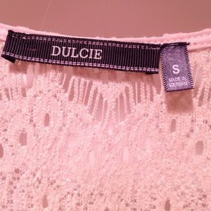 Dulcie Tops - SOLD.  Off White Lace Top