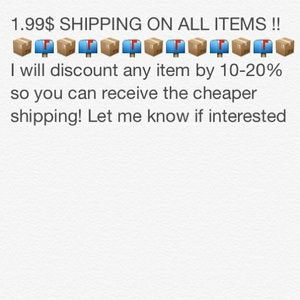 1.99$ SHIPPING ALL ITEMS CAN BE DISCOUNTED !!