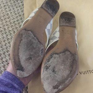 36ba07d3ac01 Louis Vuitton Shoes - 💯✓ Louis Vuitton Damier Azur sandals slides 37