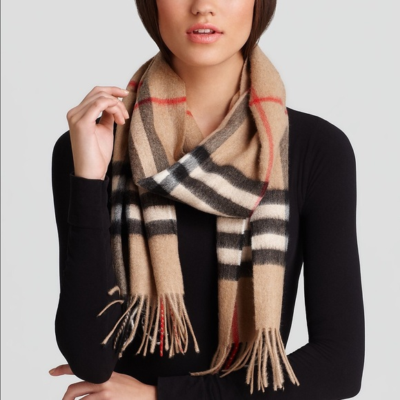 ce048d624971f Burberry Accessories - Burberry Giant Check Cashmere Scarf Camel W Tag