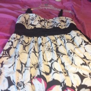 Taboo black and white floral dress