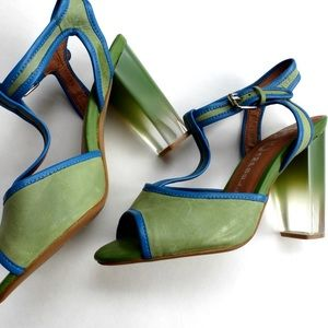 Jeffrey Campbell Shoes - Jeffrey Campbell green/blue clear ombré sadals NEW
