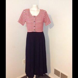VTG ❤️SALE❤️ Red White Blue Patriotic Sailor Dress