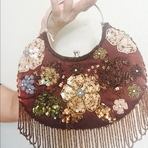 Personal Handbags - Hand beaded purse.