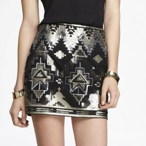 80% off Express Dresses & Skirts - Aztec sequin skirt from Manda's ...