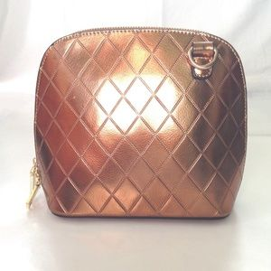 Bronze Quilted Crossbody