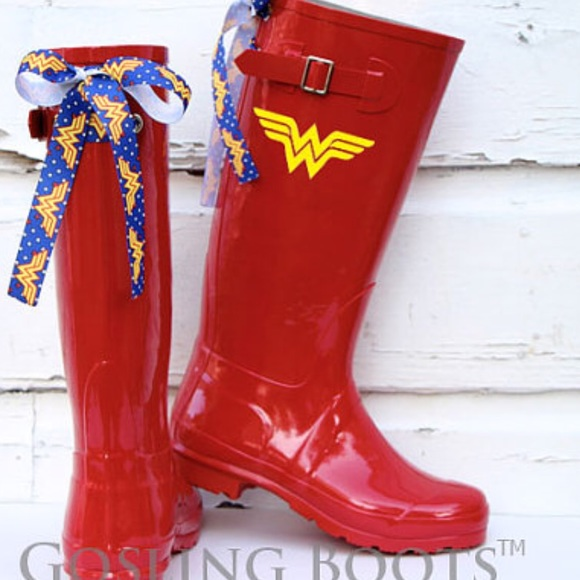 Gosling Boots with Bows - Custom Boho Rain Boots with Bows from ...