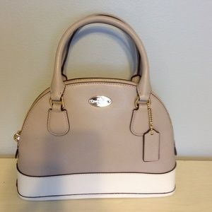 Leather Mini Cora Domed Satchel
