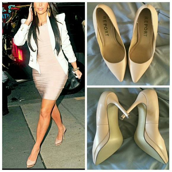 Shoes | Nude Tan Pointy Toe Heels