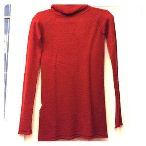 Zara red knit turtle neck