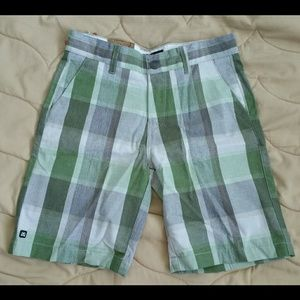 micros Other - Green Plaid shorts (Kids)