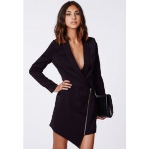 Black blazer dress relaxed fit size 6