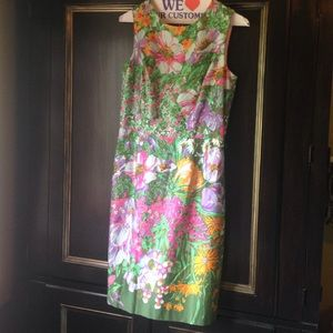 Muse Floral dress - summer spring green - flowers