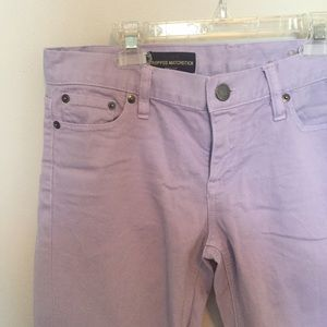 J. Crew Denim - Lilac Cropped matchstick jeans