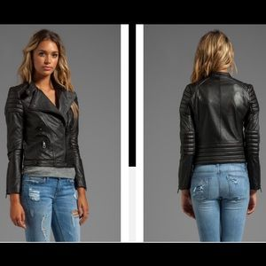 Black Orchid Jackets & Blazers - Black Orchid genuine leather Moto jacket, small