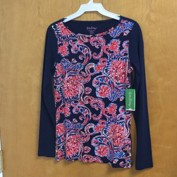 3473573af59888 Lilly Pulitzer Tops | Bailey Top Xs For The Halibut | Poshmark