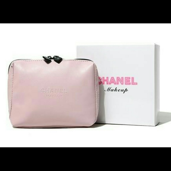 chanel makeup bag. chanel accessories - chanel makeup soft pink cosmetic bag