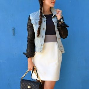 Alexander Wang Denim & Leather Jacket