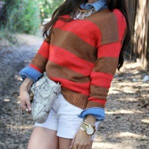 Forever 21 Sweaters - Orange and Tan Sweater