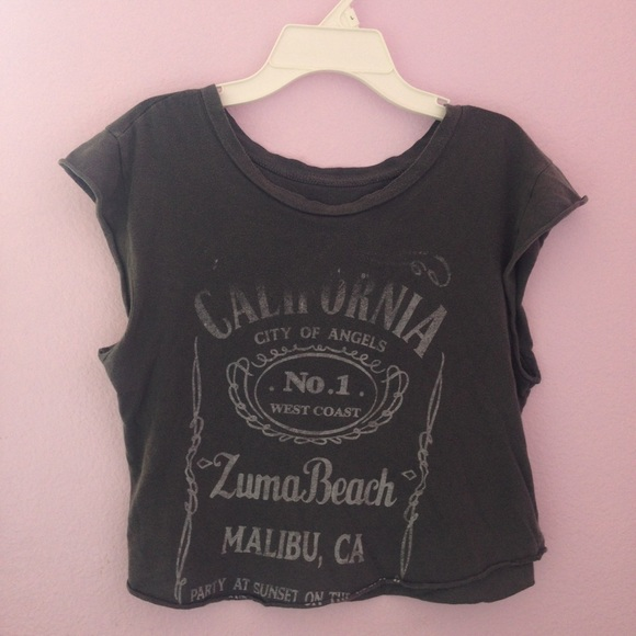 aacd0aba8a8dc9 Brandy Melville Tops - Brandy Melville jack daniels muscle tee
