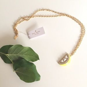 kate spade Jewelry - Kate Spade Lemon Wedge Pendant Necklace