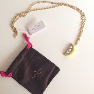 kate spade Jewelry - Kate Spade Lemon Wedge Pendant Necklace