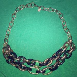 Banana Republic black and gold chain link necklace
