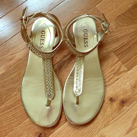 Sandals ShoesGold Flat Guess Sandals Poshmark Guess Poshmark Flat ShoesGold E2eWYbID9H