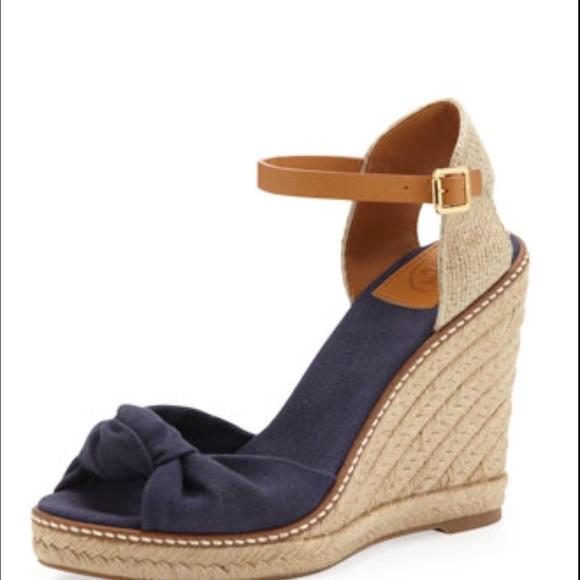 64f1fcd1e2a400 Tory Burch Macy Wedge Espadrille Sandals Size 9.5
