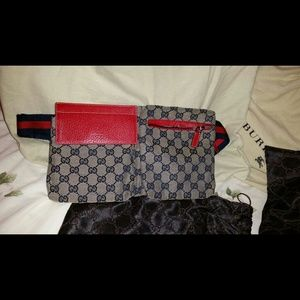 Gucci limited edition blue/red belt bag