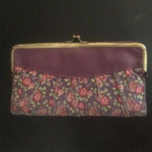 LULU Vintage Purple Floral Wallet 