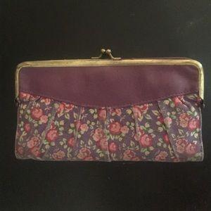 LULU Vintage Purple Floral Wallet 